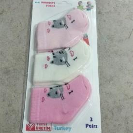 Носки махрові дівчинка 3 шт. 30521