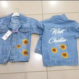 Куртка джинс дівчинка 39380