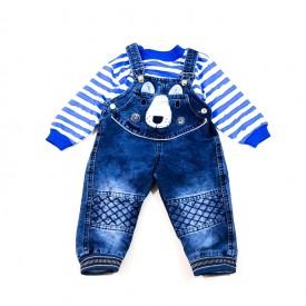 Комбез джинс + кофта хлопчик 27346