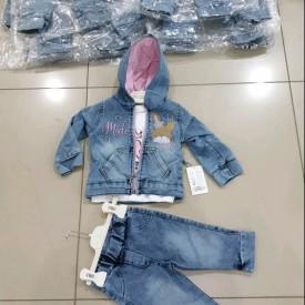 Костюм 3-ка джинс дівчинка 40339