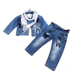Костюм 3-ка джинс дівчинка 31900