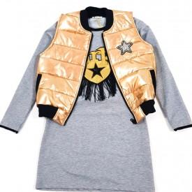 Куртка + платя дівчинка 25464