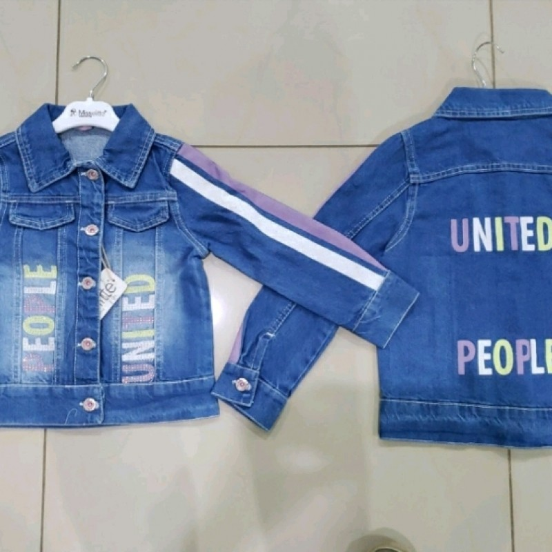 Куртка джинс дівчинка 39931