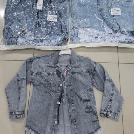 Куртка джинс дівчинка 39978