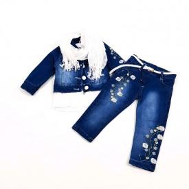 Костюм 3-ка джинс дівчинка 31898