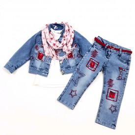 Костюм 3-ка джинс дівчинка 31895